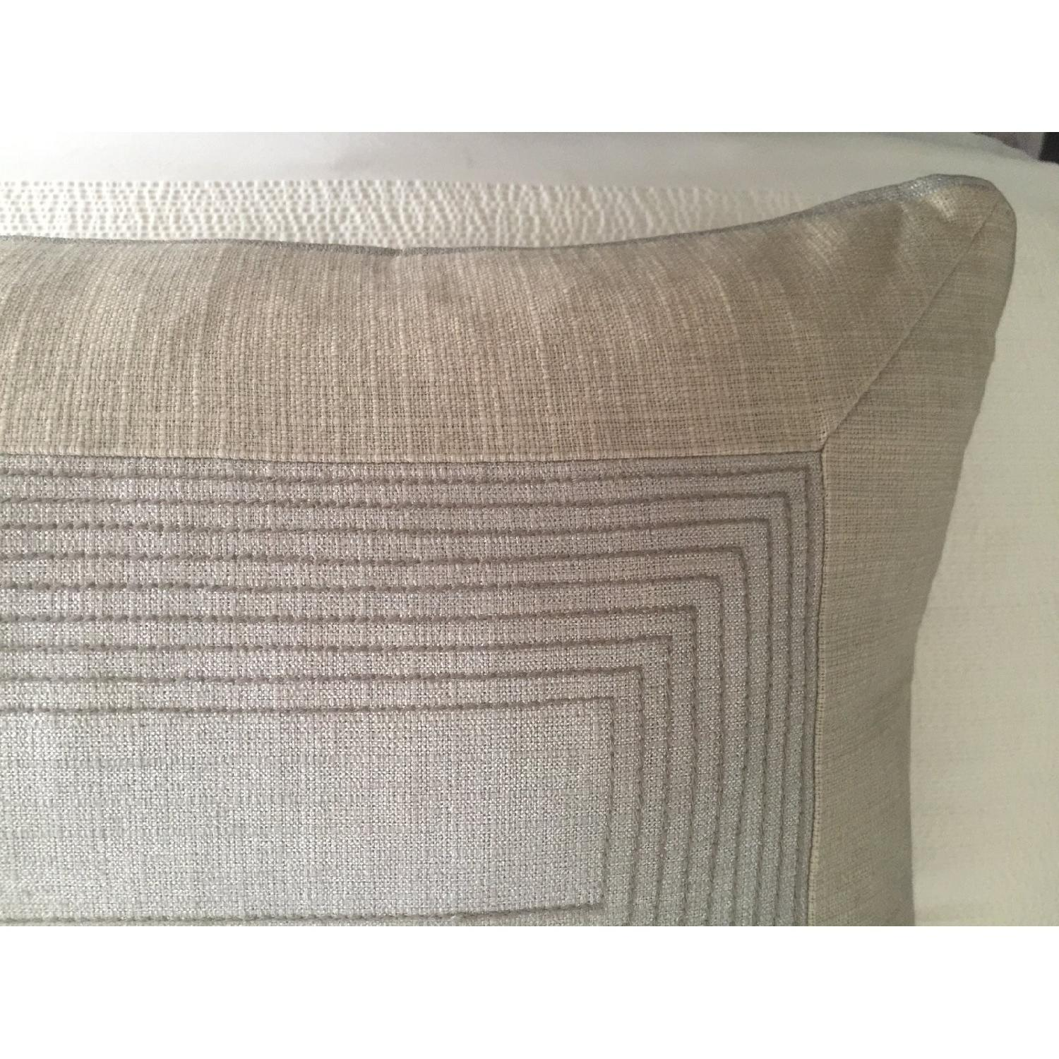Contemporary Metallic Embroidered Pillows