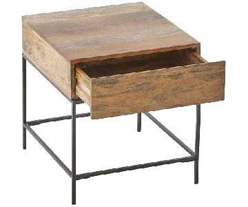 West Elm Industrial Storage Side Tables