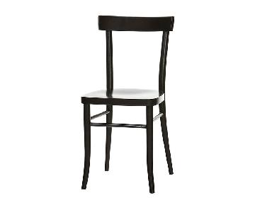 Thonet TON 77 Dining Chairs in Black