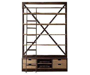 Restoration Hardware 1950s Dutch Shipyard Triple Shelving