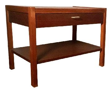 Vintage Mid-Century Modern Wood End Tables
