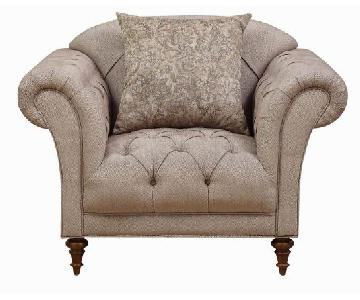 Light Brown Tufted Accent Chair