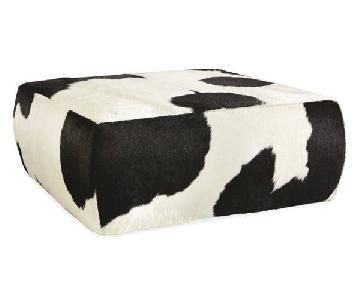 Room & Board Cowhide Style Square Ottoman