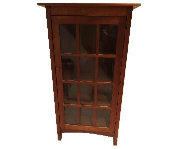 Scott Jordan Furniture Cherry Wood Bookcase w/ Glass Door
