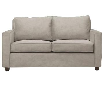 West Elm Henry Custom Otter Gray Loveseat Sofa