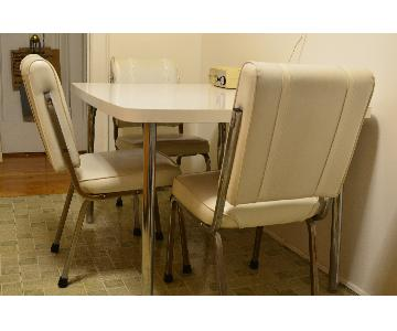 Vintage 1960s/70s Dining Table w/ 4 Chairs