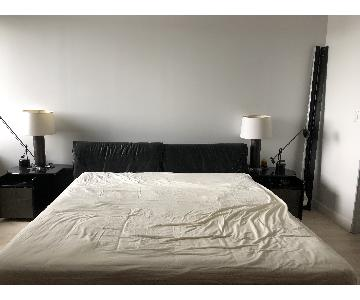 Maurice Villency King Size Bed w/ Attached Nightstands