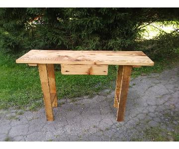 Etsy Handcrafted Barnwood Console
