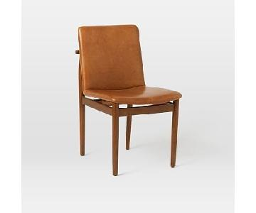West Elm Framework Leather Dining Chairs