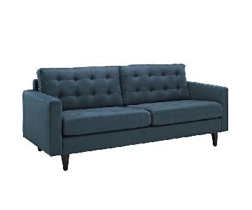 Manhattan Home Design Empress Upholstered Fabric Sofa