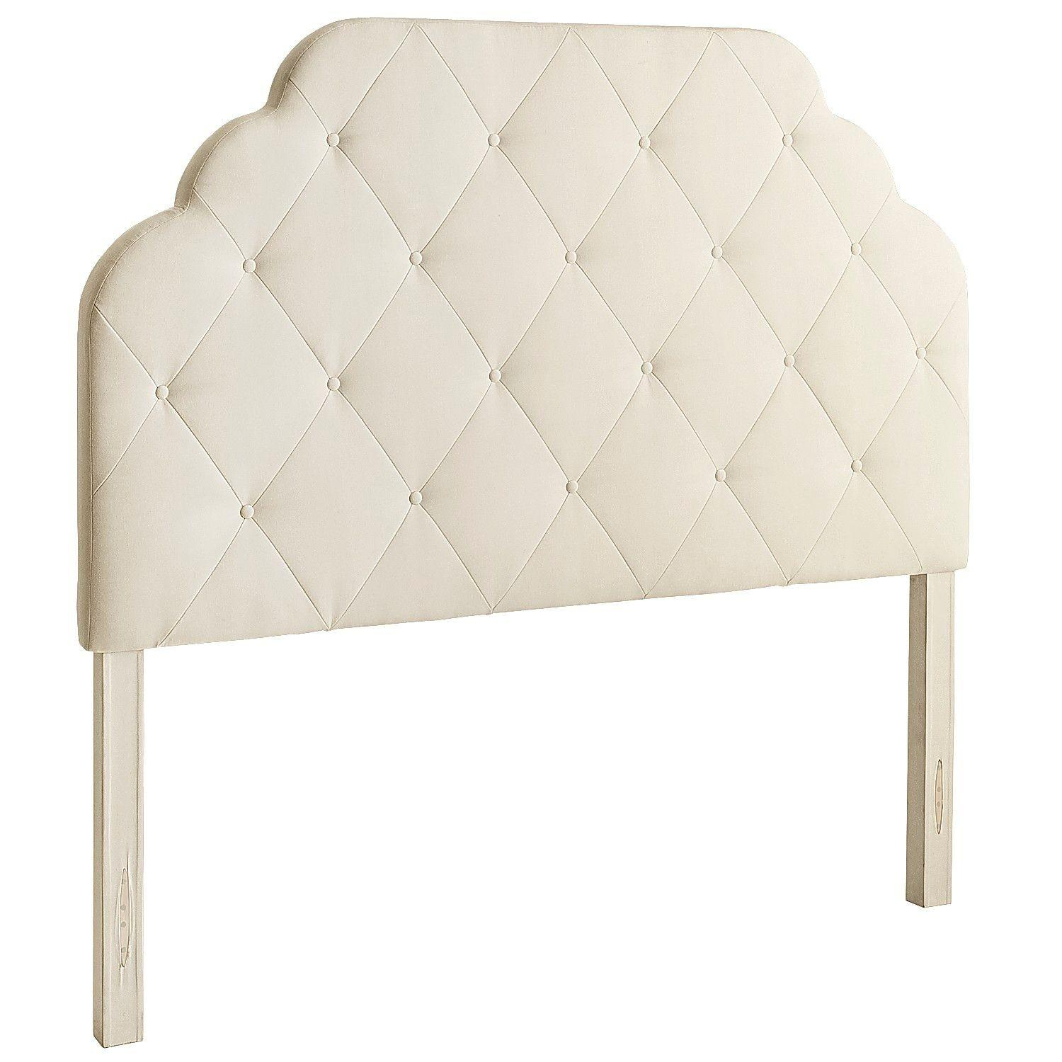 Pier 1 Hayworth Upholstered Full Ivory Headboard in Ivory
