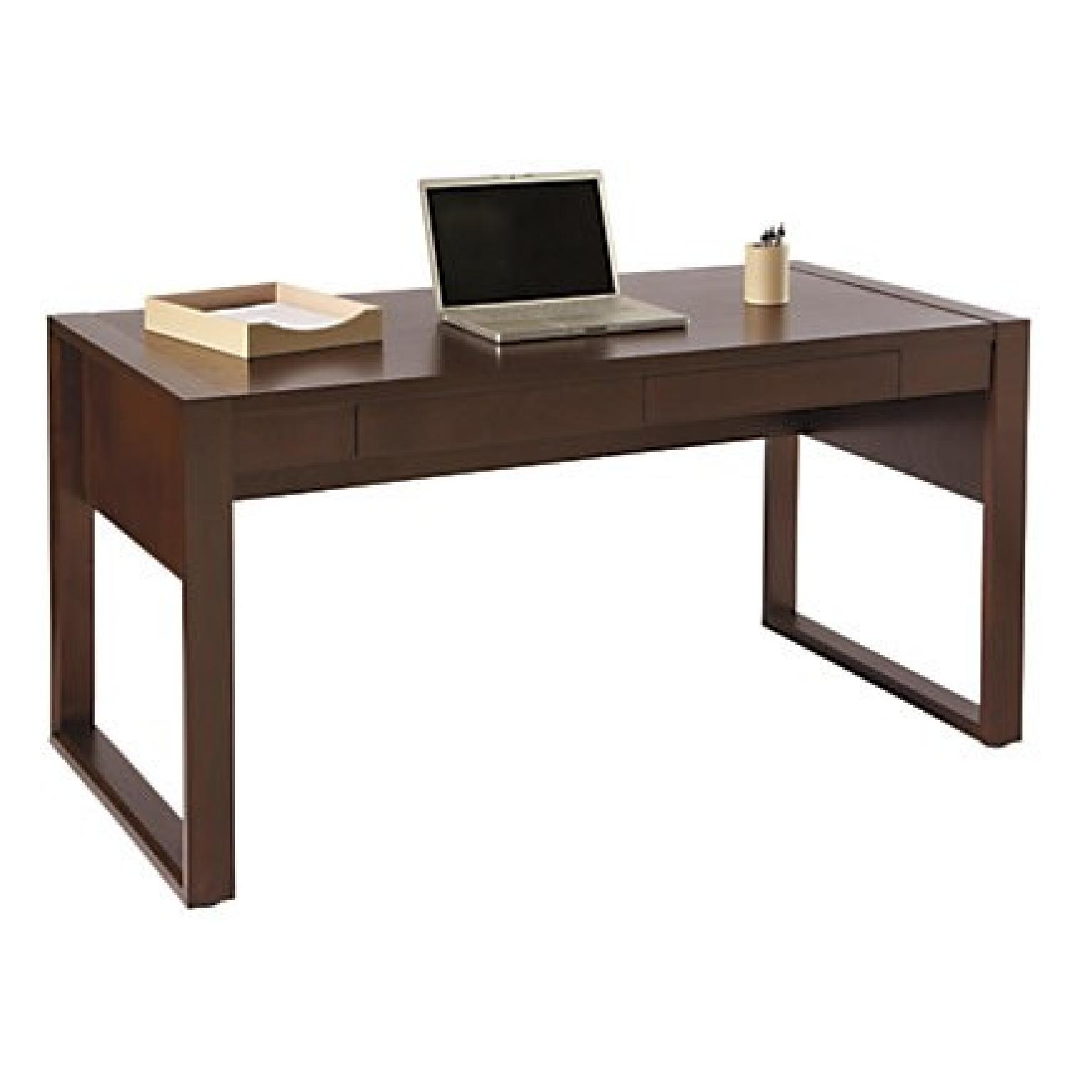 Realspace Southport Dark Brown Parsons Desk