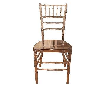 Canvas Home Lucite Chair w/ Bamboo Detail