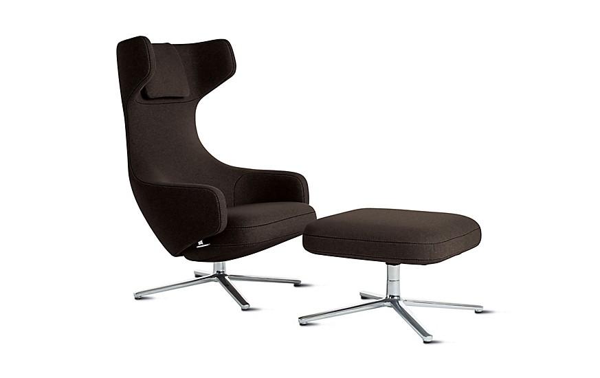 Design Within Reach Grand Repos Chair & Ottoman