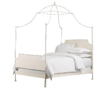 Restoration Hardware 19th C. Campaign Iron Canopy Bed
