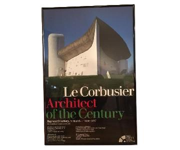 Le Corbusier Architect of the Century Hayward Gallery Exhibition Framed Poster