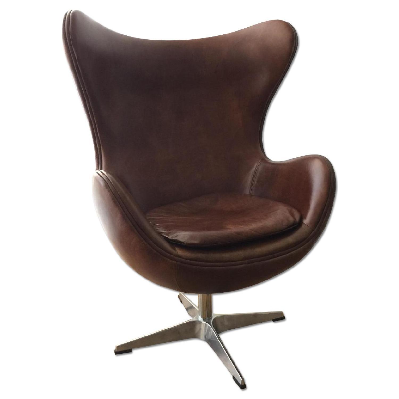 Restoration Hardware 1950s Copenhagen Leather Chair Aptdeco