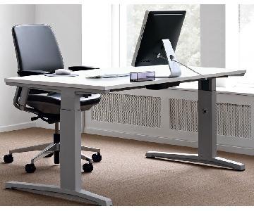 Steelcase Electric/Automatic Rectangular Adjustable Desk