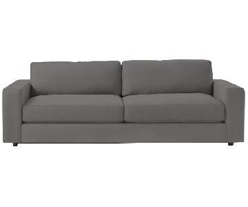 West Elm Urban Grey 2-Seater Sofa