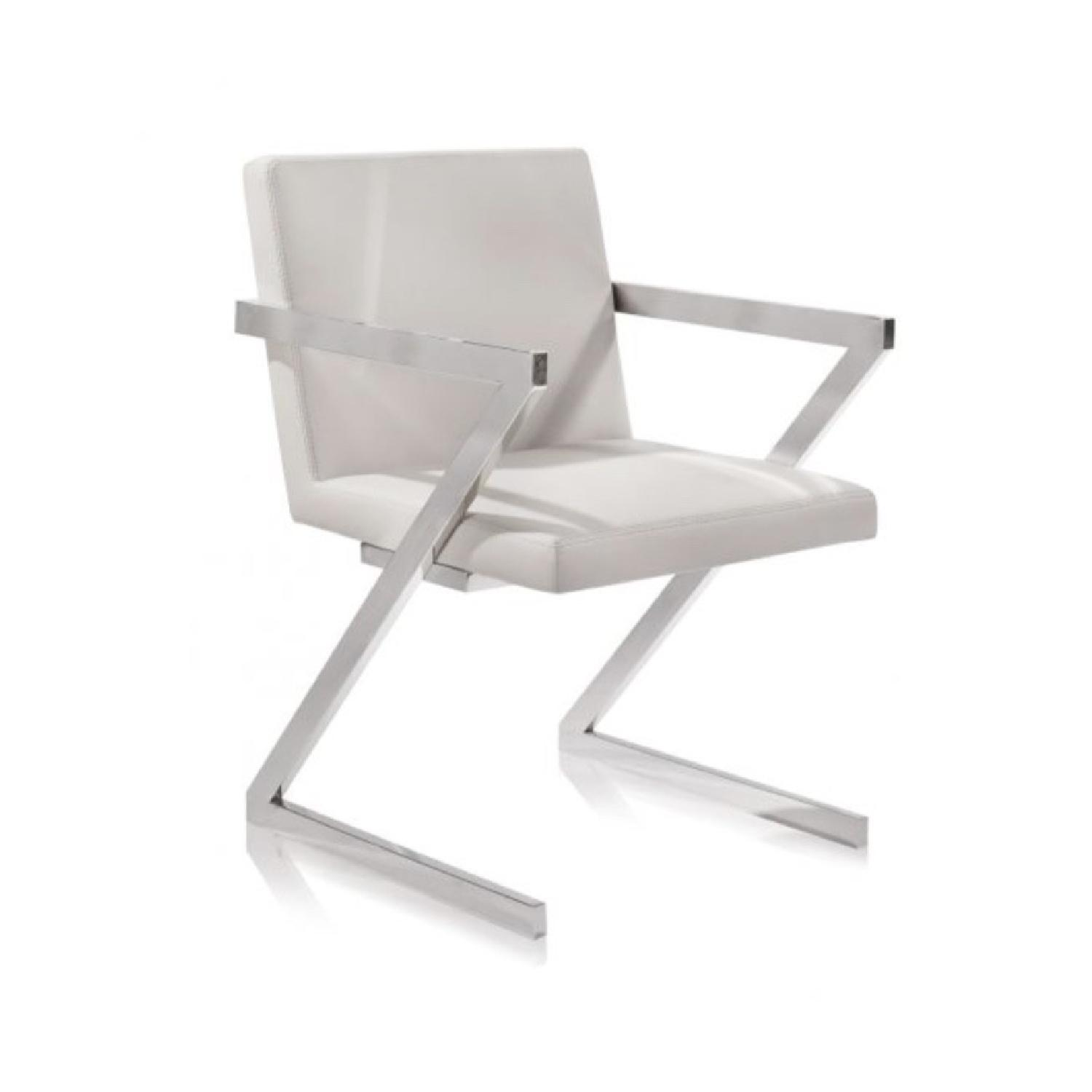 Modani White Leatherette Dining Chairs