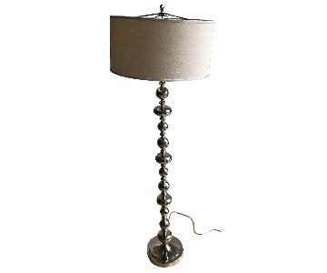 Pottery Barn Silver Floor Lamp