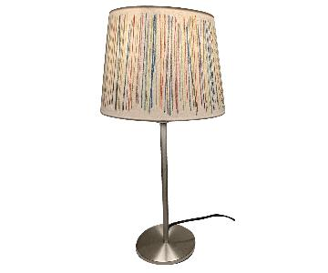Multi-Colored Striped Table Lamp