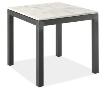 Room & Board Parsons Marble White Side Table