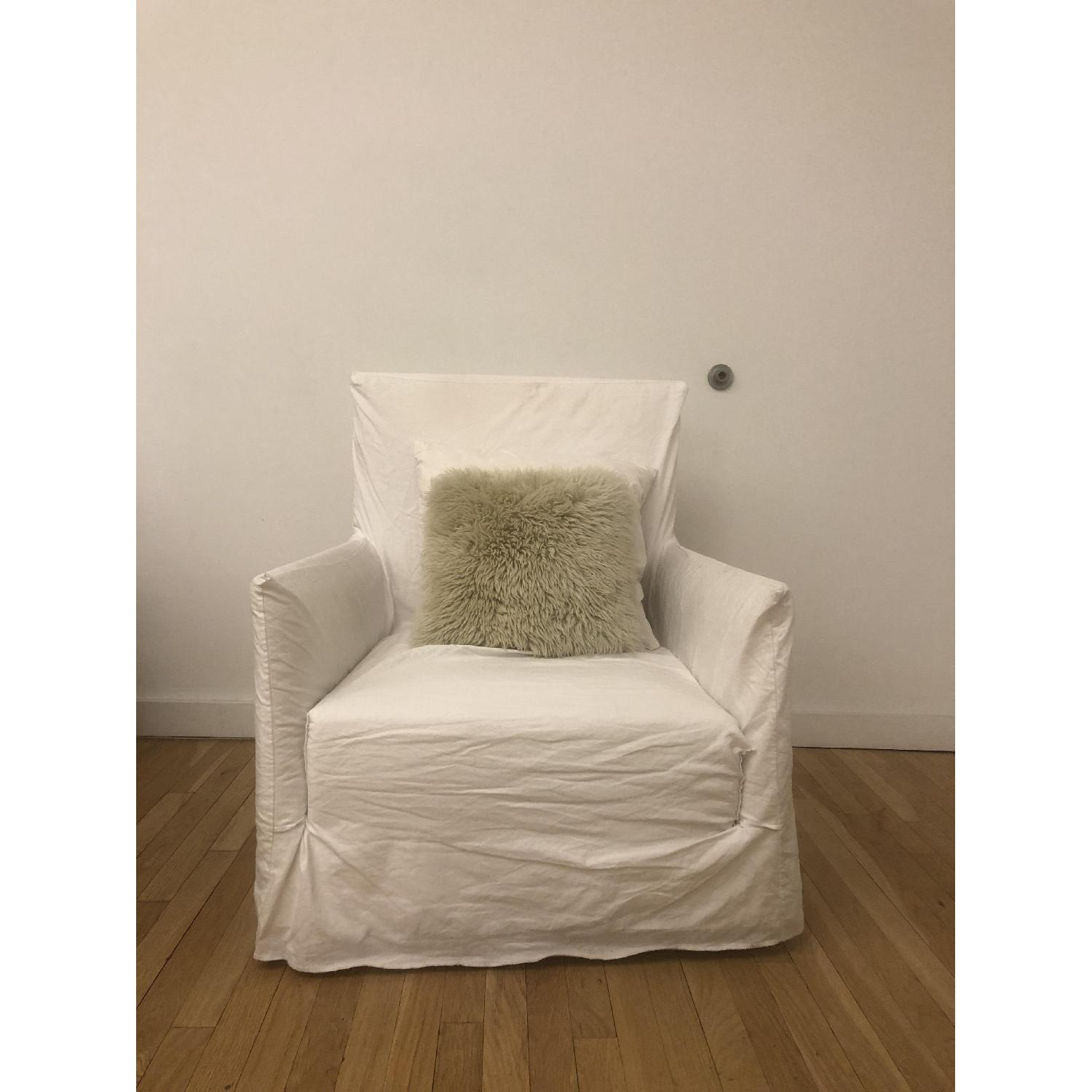 Gervasoni ghost 04 slipcover arm chair 2