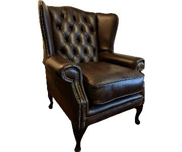 Premium Leather Highclere Wing Chair