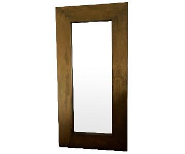 Large Mirror in Metallic Gold Finish