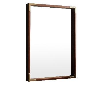 West Elm Malone Campaign Walnut Wall Mirror
