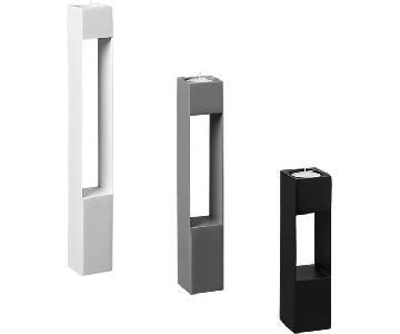 CB2 High Rise Metal Tealight Holders in White, Black & Gray