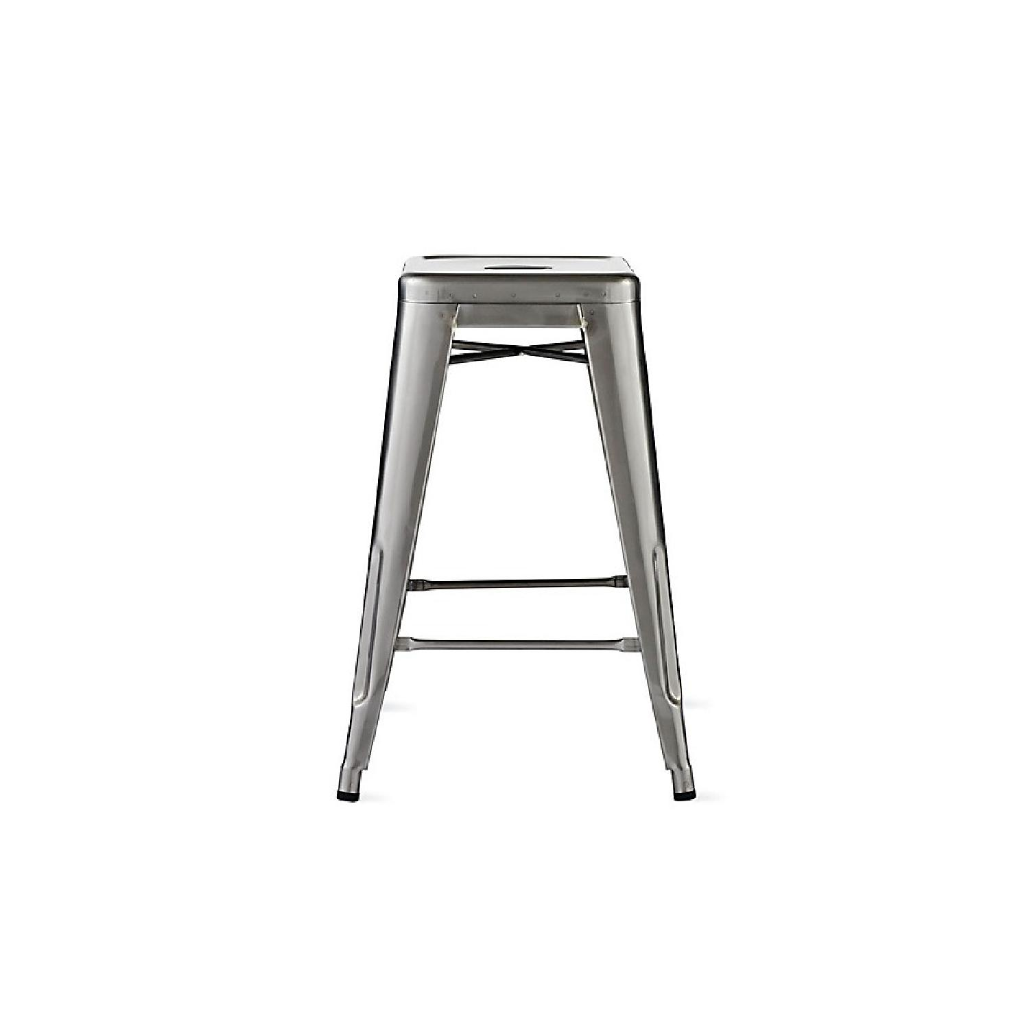 Design Within Reach Tolix Matrix Gunmetal Counter Stools