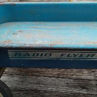 Radio Flyer 100 Blue Wagon - Ball Bearing - Vintage Steel