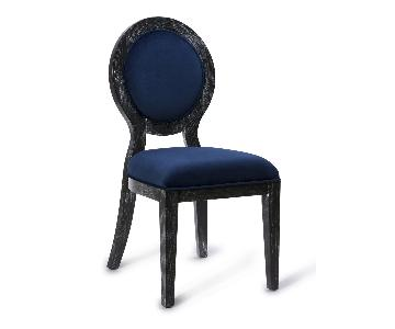 TOV Furniture Cerused Oak Navy Chair