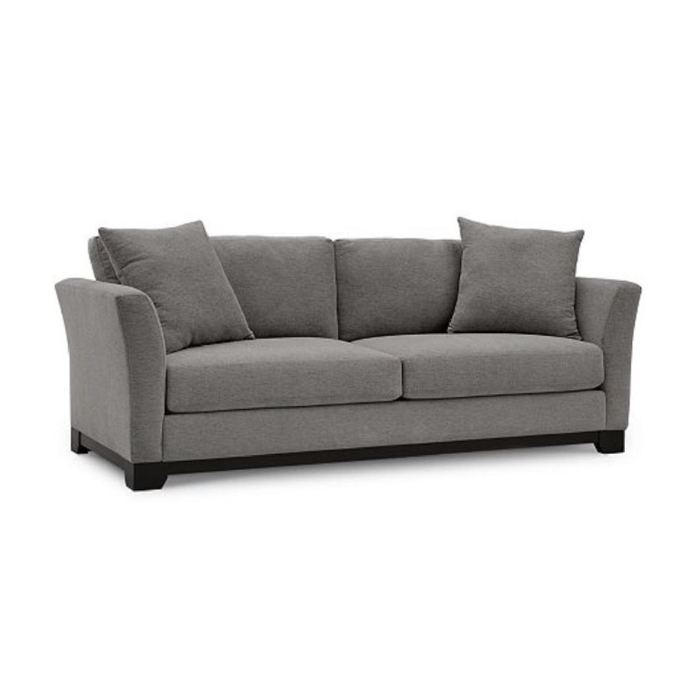 Macy's Elliot Gray Suede Sofa