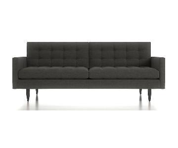 Crate & Barrel Petrie Mid Century Sofa