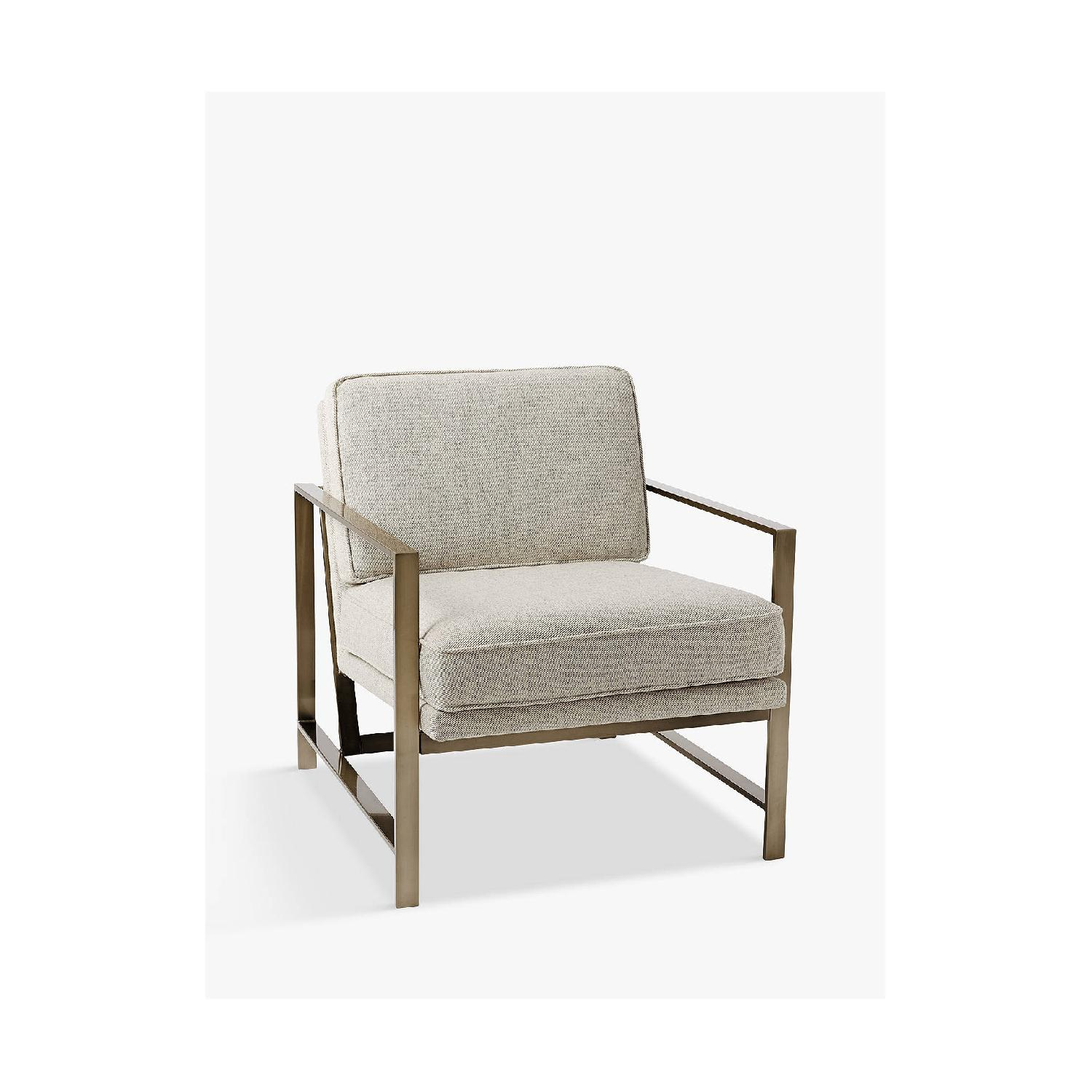 West Elm Metal Frame Armchair - image-4