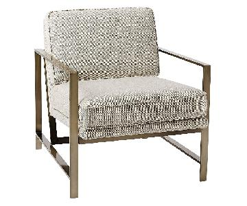 West Elm Metal Frame Armchair