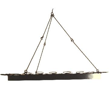 Z Gallerie Vintage Gothic Wrought Iron Hanging Chandelier