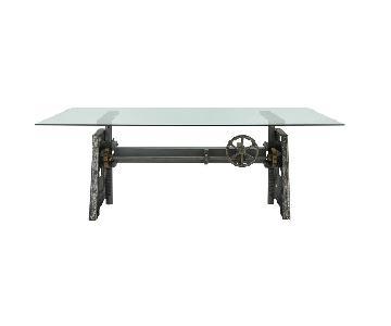 Arhaus Industrial Crank Desk