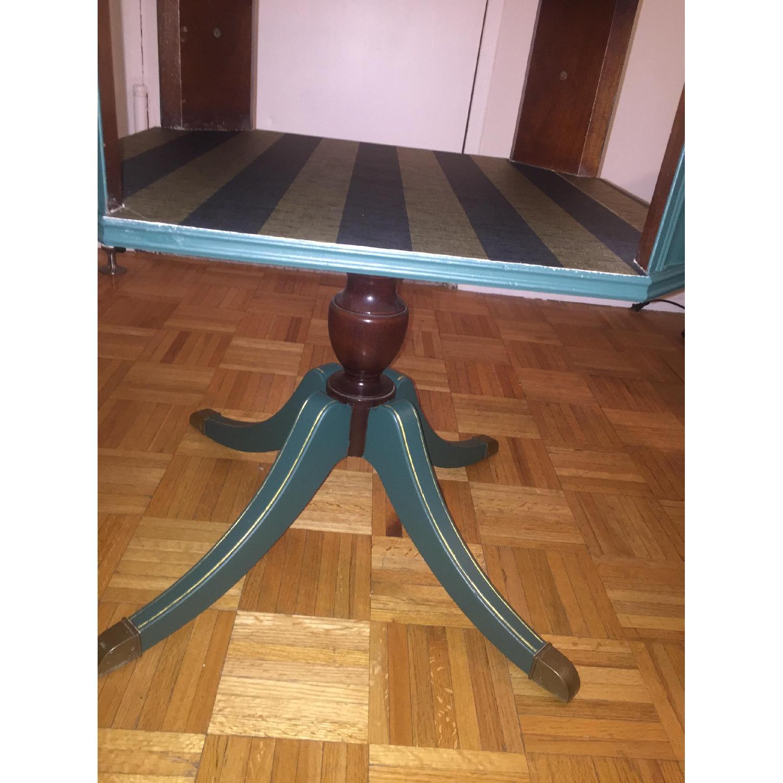 Antique Dark Green Side Table-1