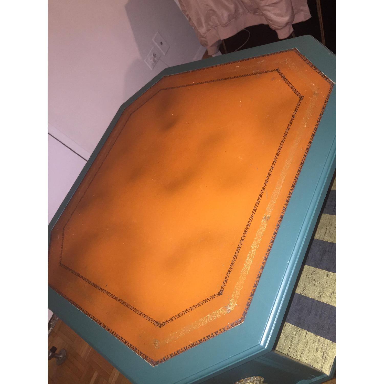 Antique Dark Green Side Table-5
