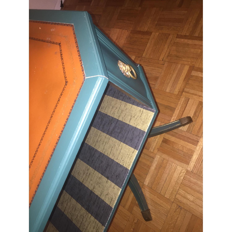 Antique Dark Green Side Table-6