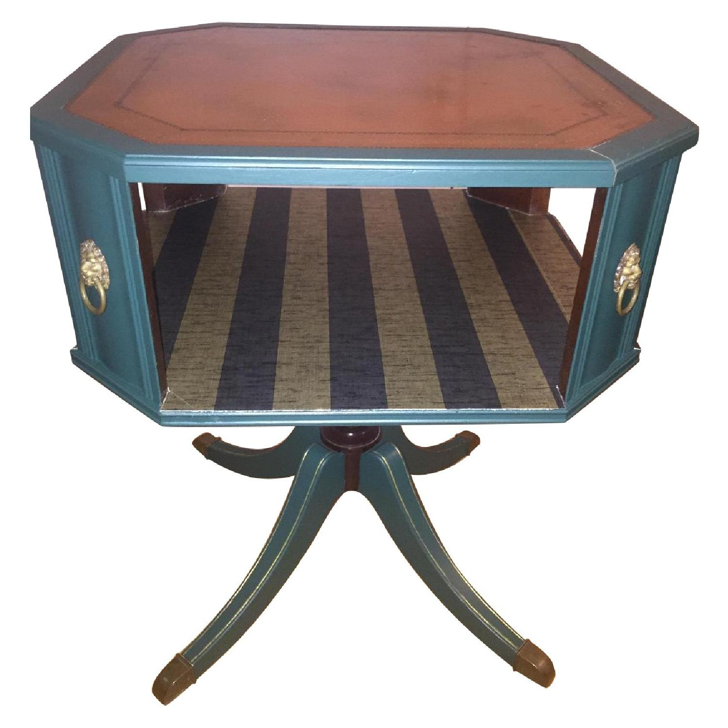 Antique Dark Green Side Table