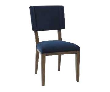 West Elm Thom Navy Velvet Dining Chairs
