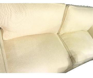 Crate & Barrel Luxe Goose Down Sofa in Lassy Natural