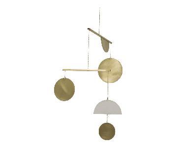 Circle & Line Design Brass Geometric Mobile