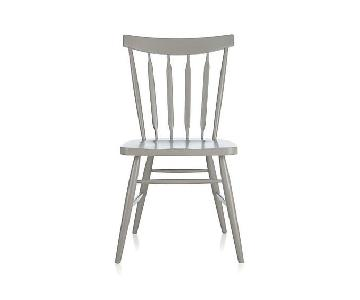 Crate & Barrel Wood Dining Chairs