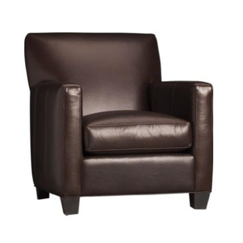 Crate & Barrel Tracy Club Chair & Ottoman